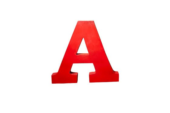 Decorative letter A Clipped