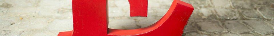 Material Details Decorative letter E