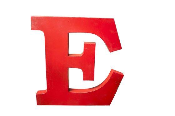 Immagini Lettera E: Decorative Letter E - Entirely Made Of Metal