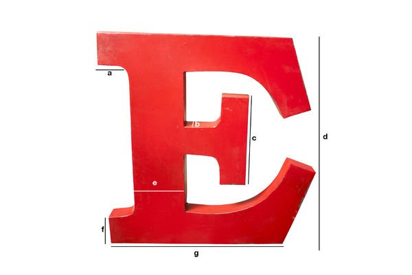 Product Dimensions Decorative letter E
