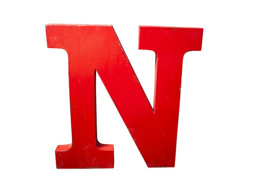 Decorative letter N Clipped