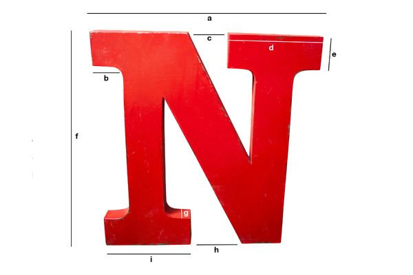 Product Dimensions Decorative letter N