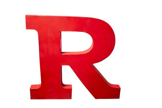 Decorative letter R Clipped