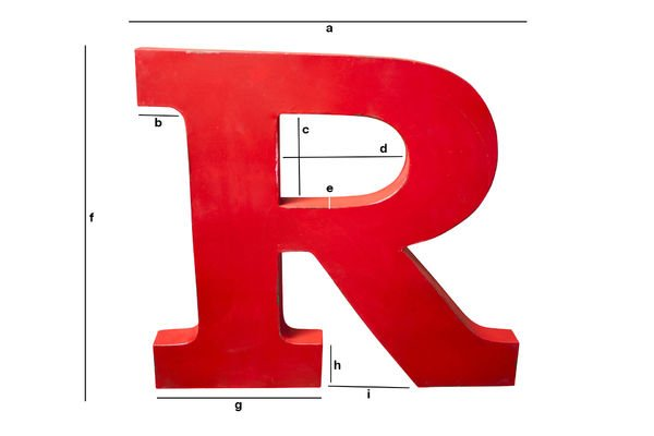 Product Dimensions Decorative letter R