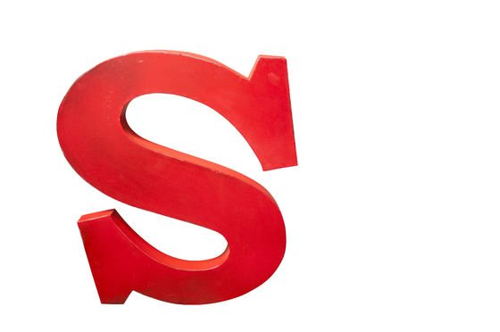 Decorative letter S Clipped