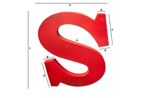 Product Dimensions Decorative letter S