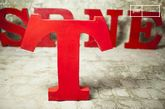 Decorative letter T