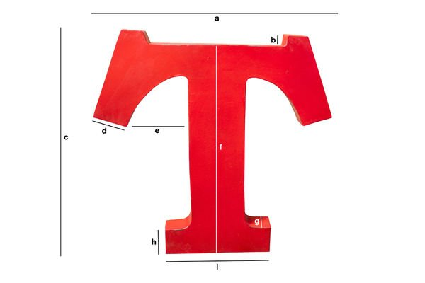 Product Dimensions Decorative letter T
