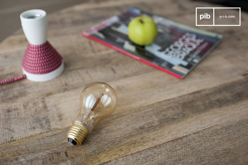 The charm of a retro light bulb