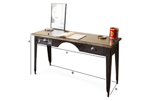 Product Dimensions Desk Dabar