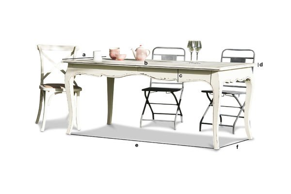 Product Dimensions Dining table Amadeo