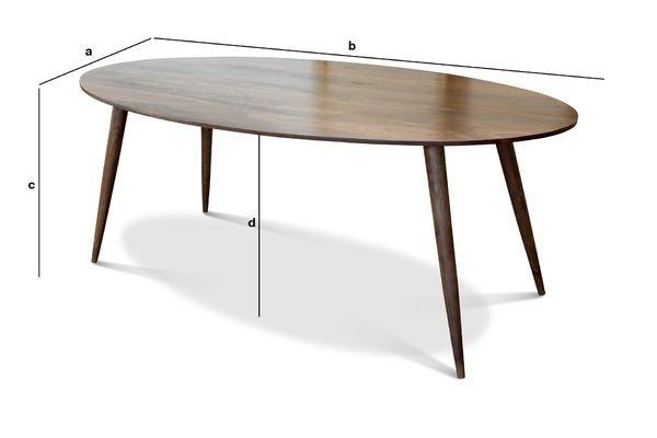 Product Dimensions Dining table Bikhatz
