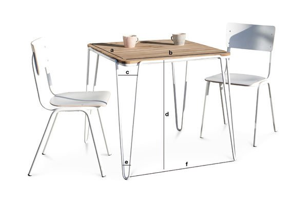 Product Dimensions Dining table Espace