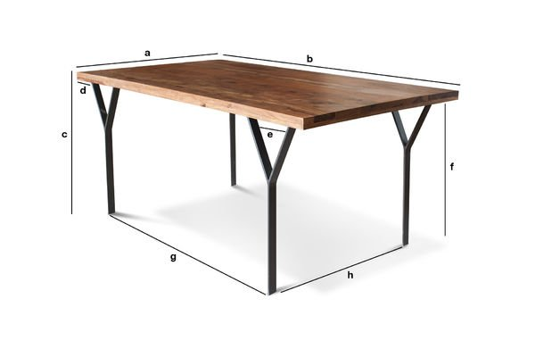 Product Dimensions Dining table Mabillon
