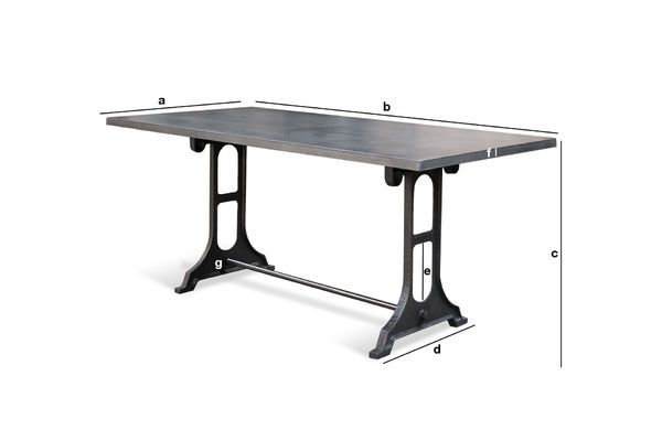 Product Dimensions Dining Table Venay