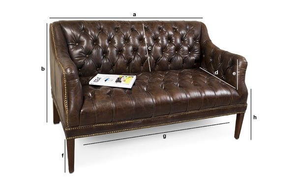Product Dimensions Doctor Freud Sofa