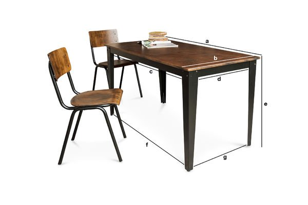 Product Dimensions Doinel Table