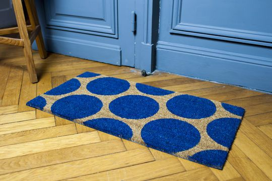 Doormat Bubble blue