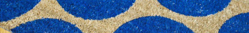 Material Details Doormat Bubble blue