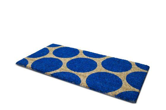 Doormat Bubble blue Clipped
