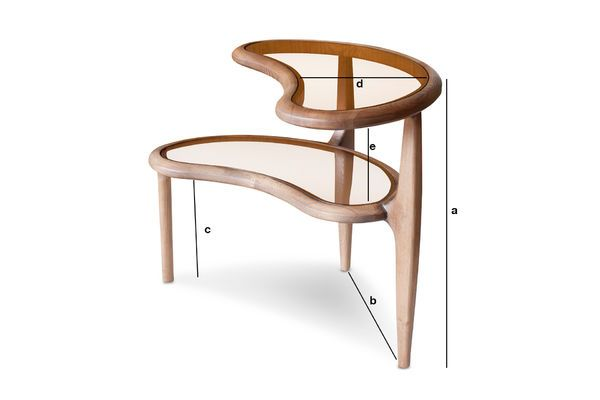 Product Dimensions Double Bean Side Table