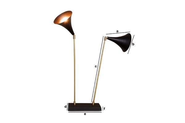 Product Dimensions Double Black Lamp