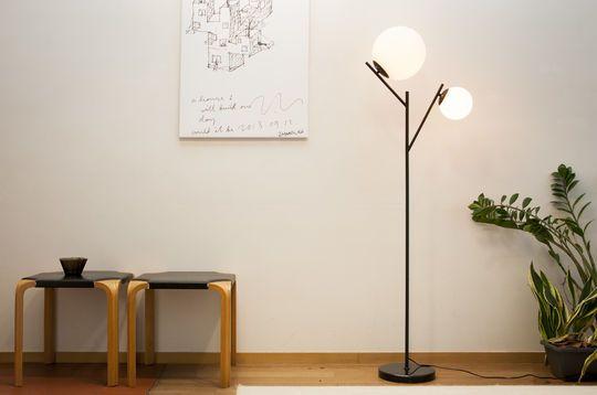 Double Hemings floor lamp