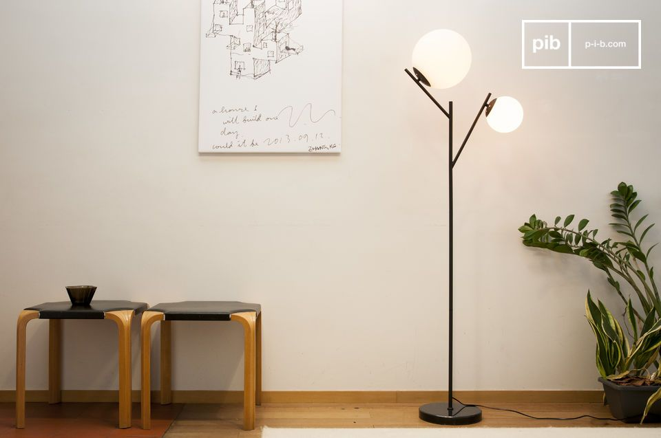 Double Hemings floor lamp