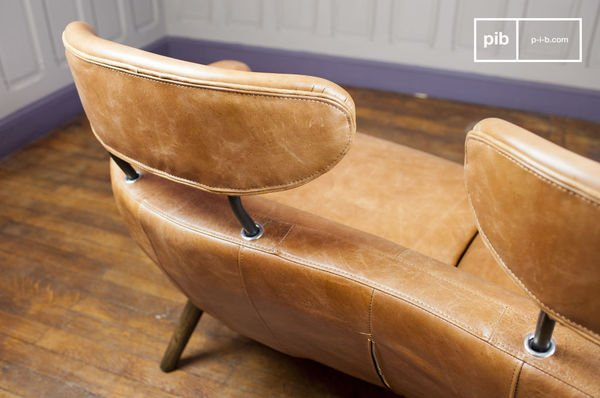 double leather armchair queen