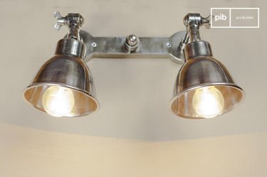 Double silver-plated wall lamp
