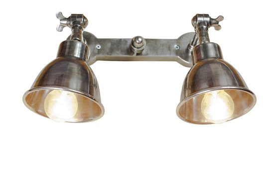 Double silver-plated wall lamp Clipped
