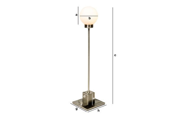 Product Dimensions Douglas lamp