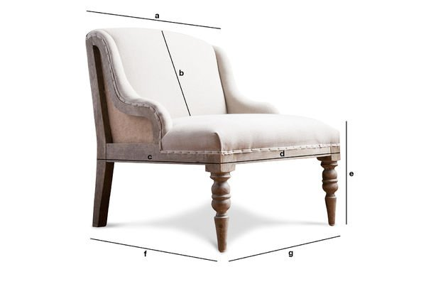 Product Dimensions Dumas armchair