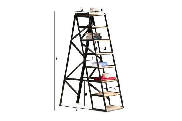 Product Dimensions Eight-step studio stepladder