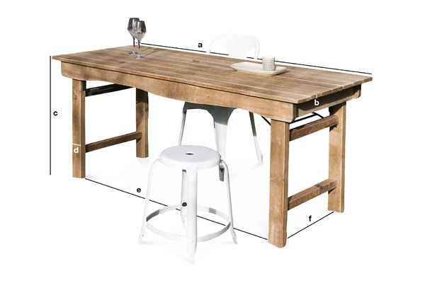 Product Dimensions Elise Wooden Table