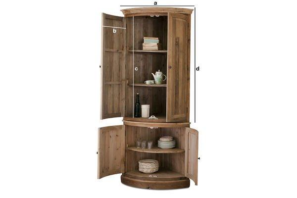 Product Dimensions Elison corner cabinet