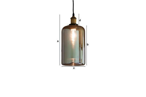 Product Dimensions Elixir glass pendant lamp