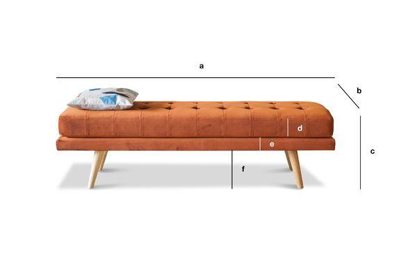 Product Dimensions Elmas Velvet Bench