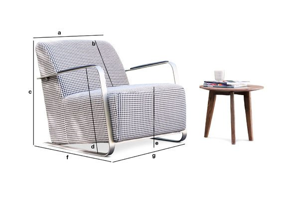 Product Dimensions Elthon armchair