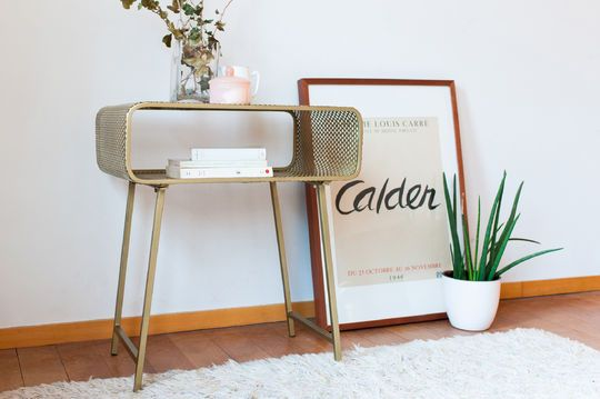 Enni golden side table