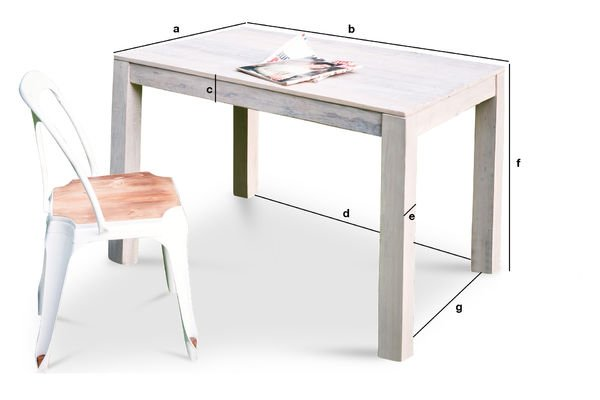 Product Dimensions Epicure wooden table