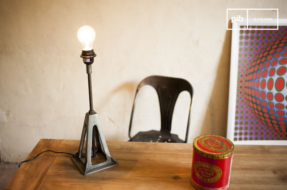 A retro lamp with industrial style