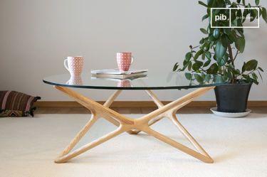 Estrella glass coffee table