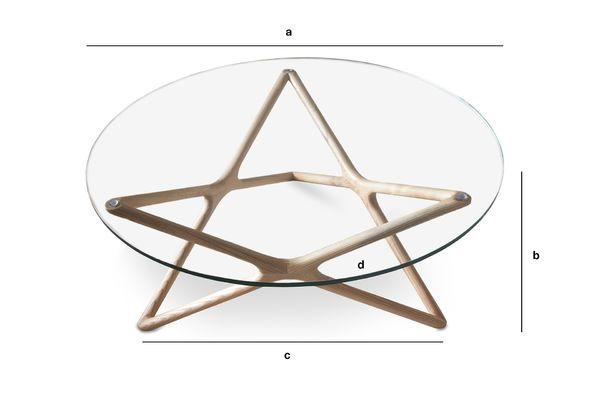 Product Dimensions Estrella glass coffee table