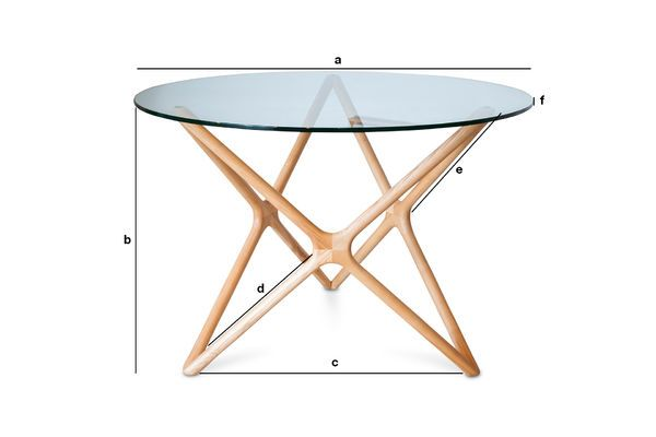 Product Dimensions Estrella glass dining table