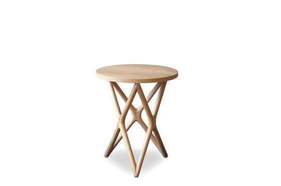 Estrella wooden side table Clipped