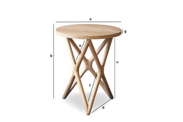 Product Dimensions Estrella wooden side table