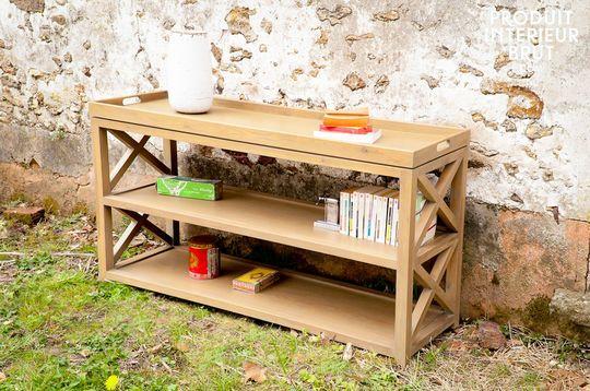 Eugénie oak console