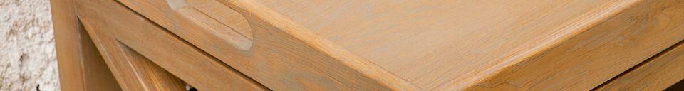 Material Details Eugénie oak console