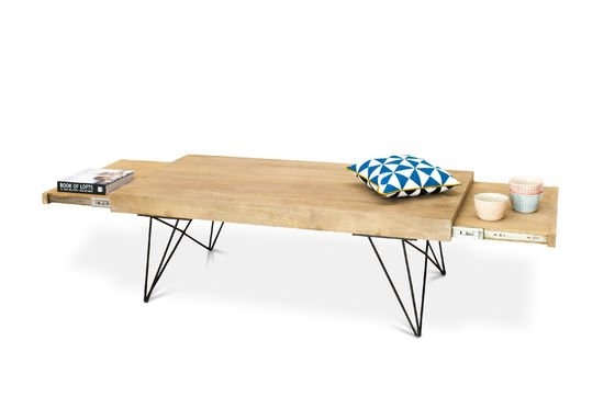 Extendible coffee table Zurich Clipped